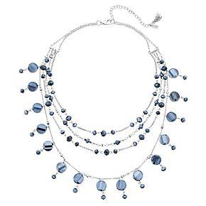 "Simply Vera Vera Wang Silver Tone 17"" Multi-strand Beaded Necklace"