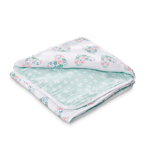 Girls aden + anais® Muslin Blanket, Briar Rose - Pink Heart