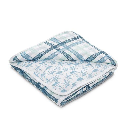 Boys aden + anais® Muslin Blanket, Plaid/Star Print
