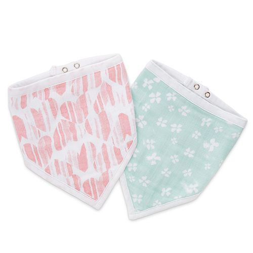 Girls aden + anais® Essentials Bandana Bib 2-pack, Briar Rose