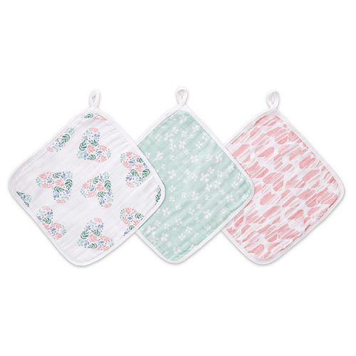 Girls aden + anais® Essentials Washcloth 3-pack, Briar Rose