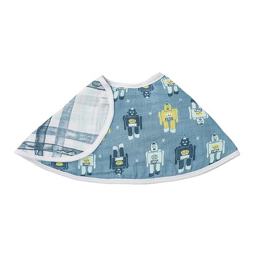 Boys aden + anais® Essentials Burpy Bib, Retro Robot Print