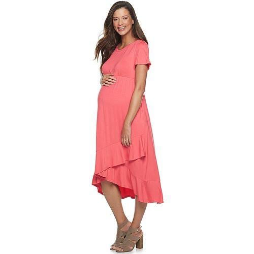 Maternity a:glow Ruffle-Hem Dress