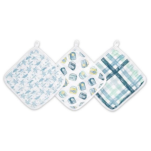 Boys aden + anais Essentials Washcloth Set, Retro