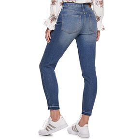 Juniors' American Rag High Rise Button Front Skinny Jean