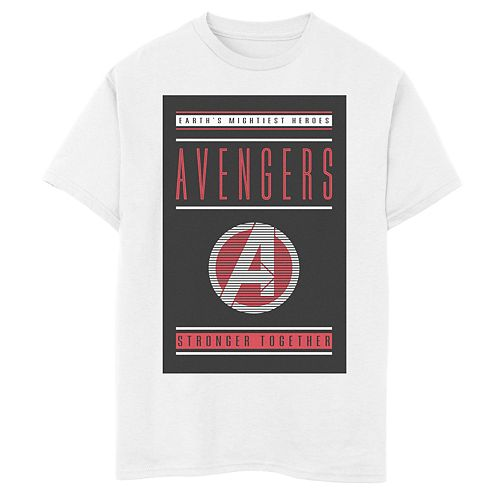 Boys 8-20 Marvel Avengers Endgame Stronger Together Poster Graphic Tee