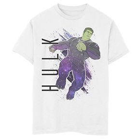 Boys' Marvel Avengers Endgame Hulk Galaxy Painted Graphic Tee