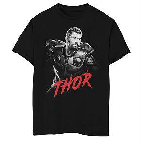 Boys' Marvel Avengers Endgame Thor Portrait Graphic Tee