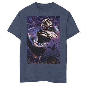 Boys' Marvel Avengers Endgame Thanos Shatter Poster Graphic Tee