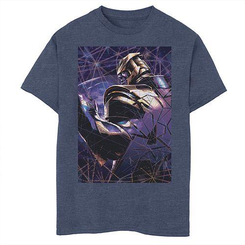 Boys 8-20 Marvel Avengers Endgame Thanos Shatter Poster Graphic Tee