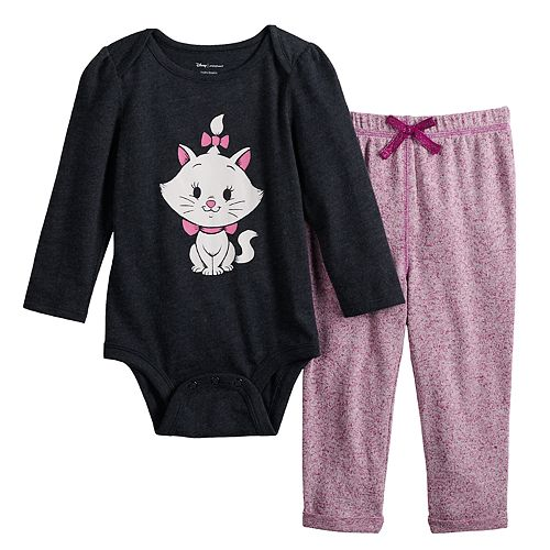 Disney's Aristocats Marie Baby Girl Graphic Bodysuit & Cozy Knit Pants Set by Jumping Beans®