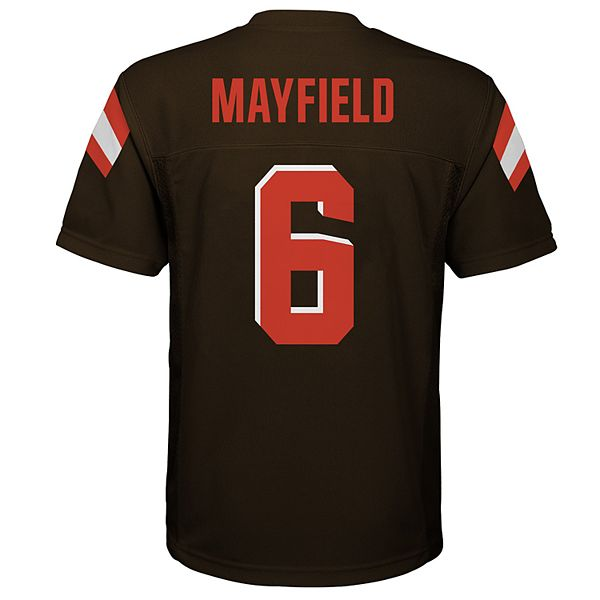 baker mayfield browns jersey youth orange