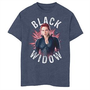 Boys' Marvel Avengers Endgame Black Widow Burst Graphic Tee