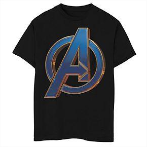 Boys' Marvel Avengers Endgame Blue Avenger Logo Graphic Tee