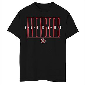 Boys' Marvel Avengers Endgame Strike Through Text Graphic Tee
