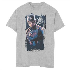 Boys' Marvel Avengers Endgame Captain America Poster Graphic Tee