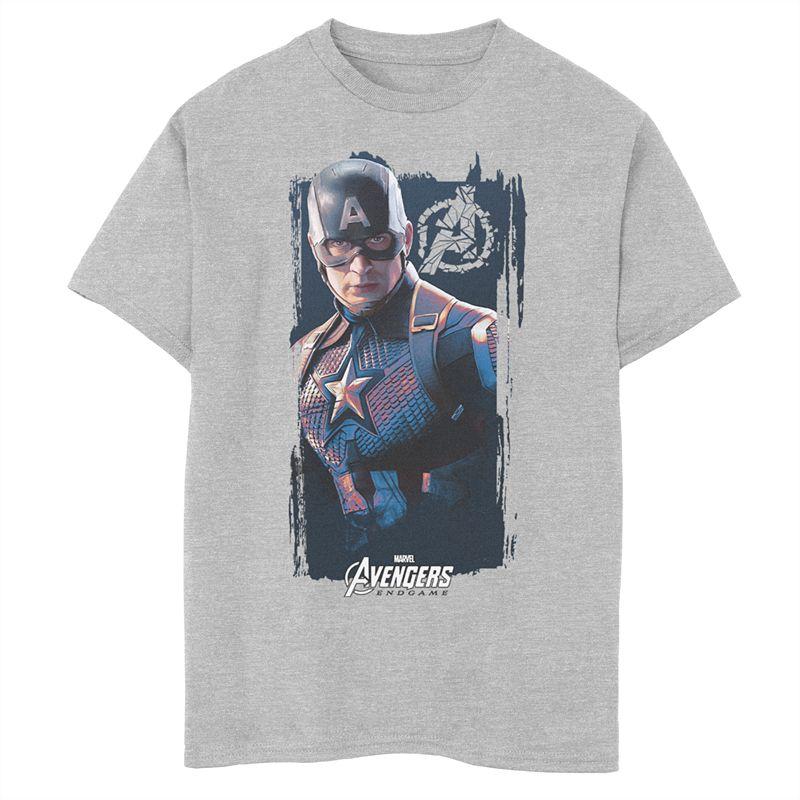 Boys 8-20 Marvel Avengers Endgame Captain America Poster Graphic Tee, Boy's, Size: XL, Grey