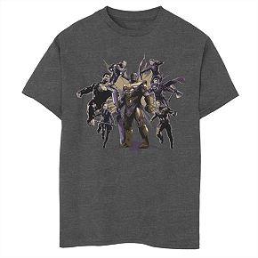 Boys' Marvel Avengers Endgame Thanos Avenger Attack Graphic Tee