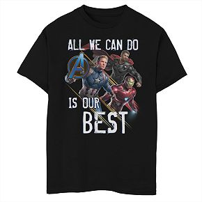 Boys' Marvel Avengers Endgame Do Our Best Graphic Tee