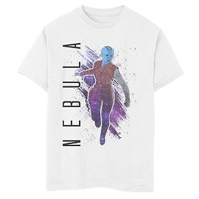 Boys' Marvel Avengers Endgame Nebula Galaxy Painted Graphic Tee