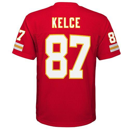 Boys 8-20 Kansas City Chiefs Travis Kelce Replica Jersey