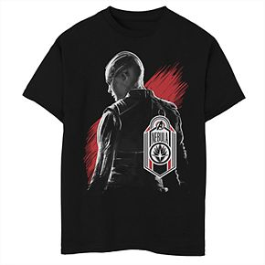 Boys' Marvel Avengers Endgame Nebula Tag Portrait Graphic Tee