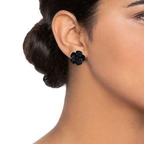 Simply Vera Vera Wang Black Flower Stud Earrings