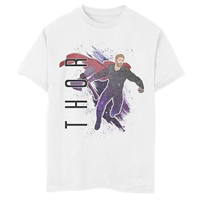 Boys' Marvel Avengers Endgame Thor Galaxy Painted Graphic Tee