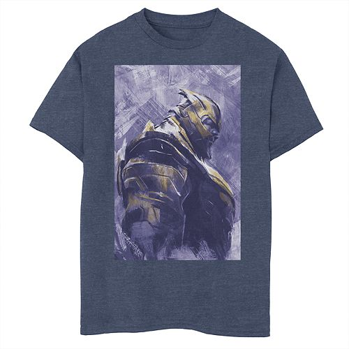 Boys 8-20 Marvel Avengers Endgame Thanos Painted Poster Graphic Tee