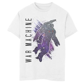 Boys' Marvel Avengers Endgame War Machine Galaxy Painted Graphic Tee