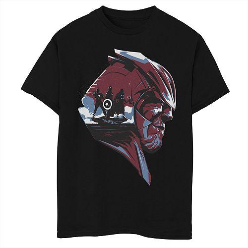 Boys 8-20 Marvel Avengers Endgame Thanos Trio Fill Graphic Tee