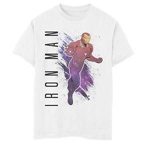 Boys' Marvel Avengers Endgame Iron Man Galaxy Painted Graphic Tee