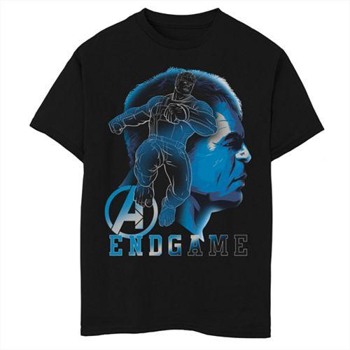 Boys 8-20 Marvel Avengers Endgame Hulk Profile Portrait Graphic Tee