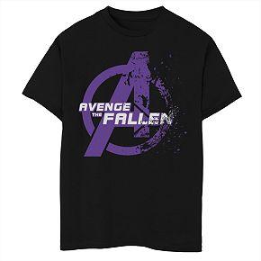 Boys' Marvel Avengers Endgame Avenge The Fallen Dust Logo Graphic Tee
