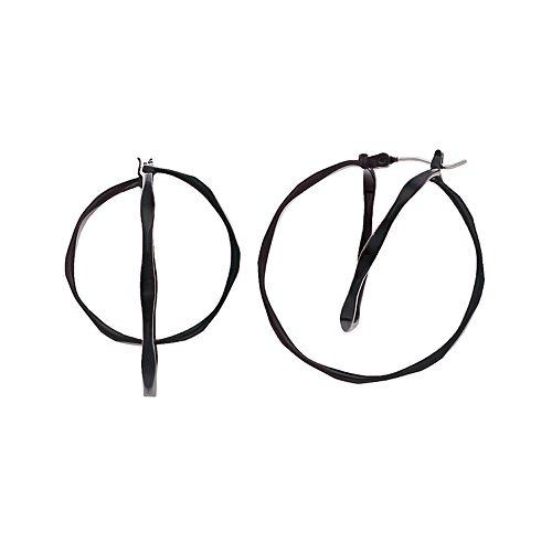 Simply Vera Vera Wang Black Twist Hoop Click It Earrings