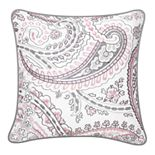 """20"""" Paisley Embroidered Feather Pillow"""