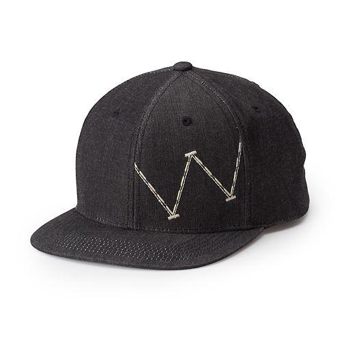 Black Wrangler Mens 6 Panel Twill Mesh Back Cap