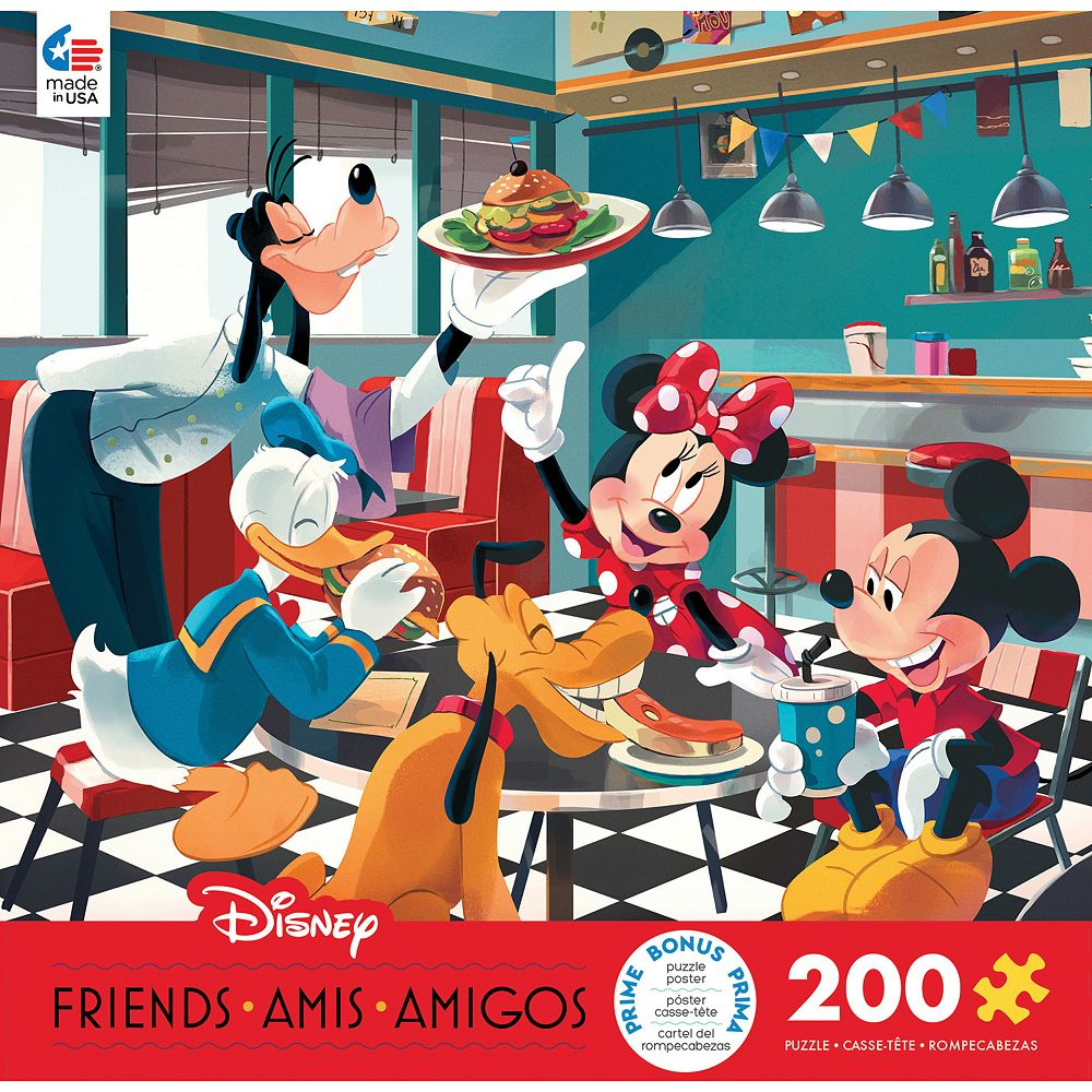 Disney/s Mickey and Friends Diner 200-Pc. Puzzle