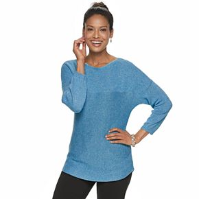 Petite Croft & Barrow® Dolman Boatneck Sweater