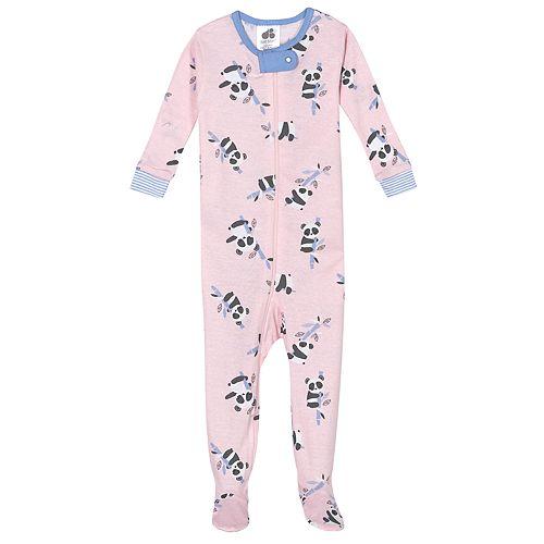 Baby Girl Just Born® Panda One Piece Organic Cotton Pajama