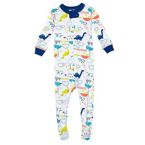 Baby Boy Just Born® Dinosaur One Piece Organic Cotton Pajama