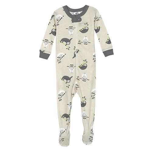 Baby Boy Just Born® Sloth One Piece Organic Cotton Pajama