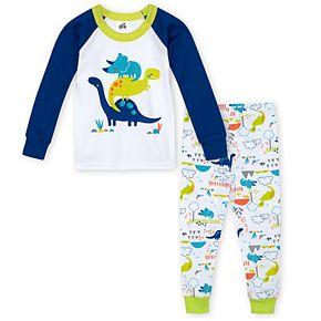 Toddler Boy Just Born® Dinosaur 2 Piece Organic Cotton Pajama Set