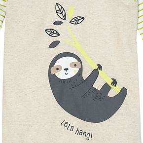 Toddler Boy Just Born® Sloth 2 Piece Organic Cotton Pajama Set