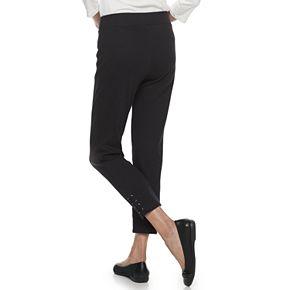 Petite Croft & Barrow® Lace-Up Hem Pull-On Leggings