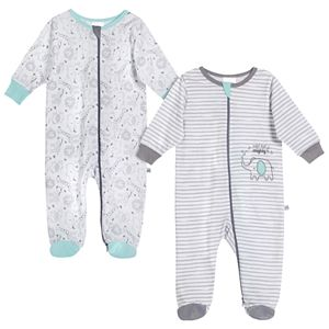 Baby Just Born® Elephant 2 Pack Zip-front Sleep 'n Play
