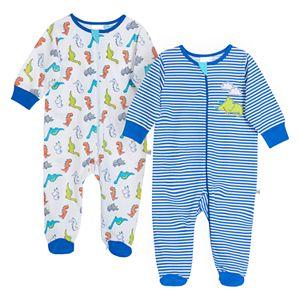Baby Boy Just Born® Dinosaur 2 Pack Zip-front Sleep 'n Play