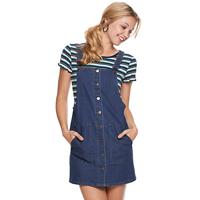 Juniors' SO® So Button Front Pinafore