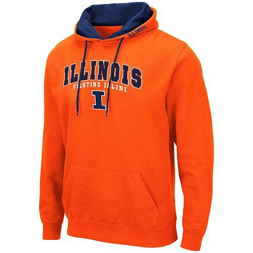 Men's NCAA Illinois Pullover Hooded Fleece