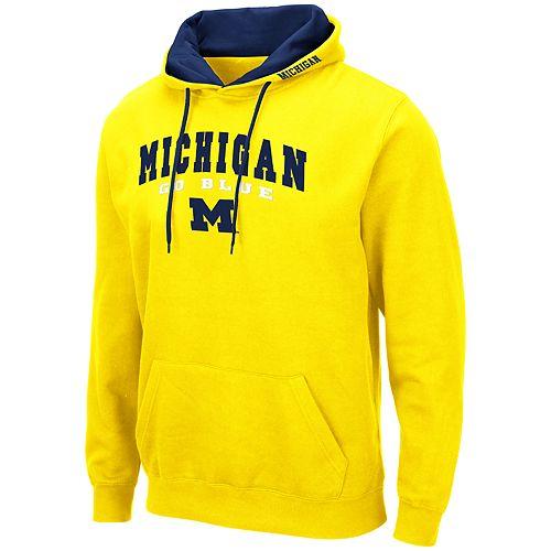 Men's NCAA Michigan Pullover Hooded Fleece